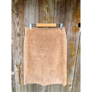GENUINE SUEDE LEATHER brown skirt